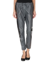 Les Chiffoniers Leather Pants Light Grey