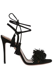 Aquazzura 105Mm Wild Things Fringed Suede Sandals