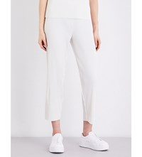 Cauliflower A Poc Cropped Ribbed Knit Trousers Off White