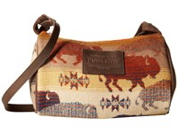 Pendleton Dopp Purse With Leather Strap Land Of The Buffalo Handbags Brown