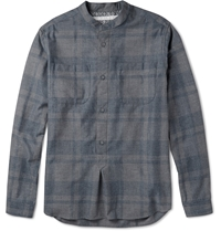 White Mountaineering Checked Cotton Shirt Gray