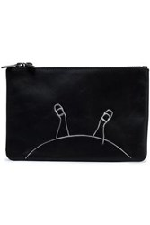 Marc By Marc Jacobs Printed Leather Pouch Black