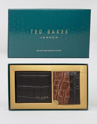 Ted Baker Wallet And Cardholder Gift Set Black