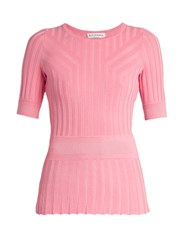 Altuzarra Ozzy Short Sleeved T Shirt Light Pink
