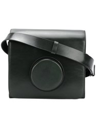 Christophe Lemaire Camera Bag Leather Green