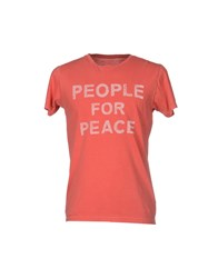 Worn Free Topwear T Shirts Men Coral