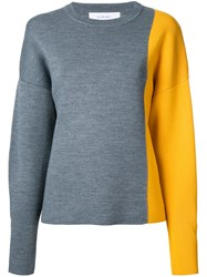 Le Ciel Bleu Colour Block Jumper Grey