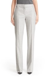 Max Mara Women's 'Polis' Stretch Wool And Cashmere Flannel Pants Light Grey