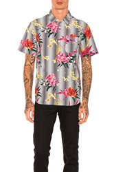 Stussy Psychedelic Dot Floral Button Down Black And White