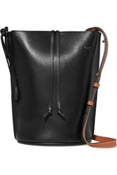 Loewe Gate Small Leather Bucket Bag Black
