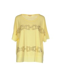 Marani Jeans Topwear T Shirts Women Yellow