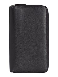 Linea Double Zip Travel Wallet Black