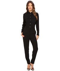 The Kooples Jumpsuit Breast Pockets Black