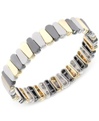 Nine West Tri Tone Stretch Bracelet No Color