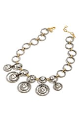J.Crew Pave Circles Statement Necklace Crystal