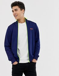 Barbour International Transmission Fluro Zip Track Jacket In Blue