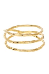 Sterling Forever 14K Yellow Gold Plated Sterling Silver Gold Textured Ring Metallic