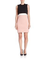French Connection Colorblock Popover Dress Black Rose