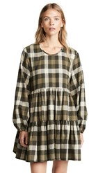 Riller And Fount Kitty Plaid Shirtdress Pine Nut