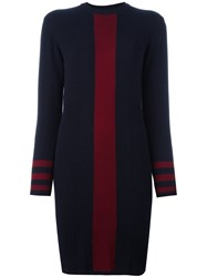 Chinti And Parker Vertical Stripe Dress Blue