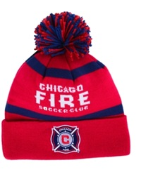 Adidas Chicago Fire Crossbar Knit Hat Red Navy