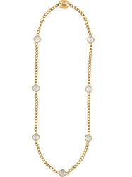 Chanel Vintage Crystal Strand Necklace Metallic