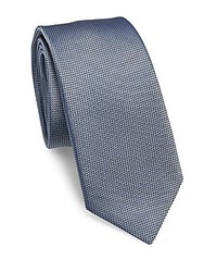 Pal Zileri Textured Silk Tie Light Blue