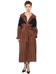Nina Ricci Washed Techno Satin Trench Coat