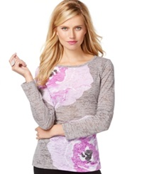 Inc International Concepts Long Sleeve Printed Burnout Tee Only At Macy's