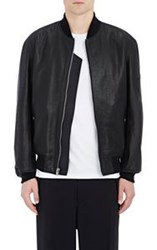 Alexander Wang Men's Leather Bomber Jacket Black