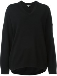 Dkny Loose Fit V Neck Sweater