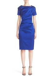 Talbot Runhof Women's Stretch Satin Sheath Dress