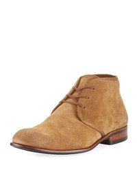 John Varvatos Seagher Suede Chukka Boot Brown