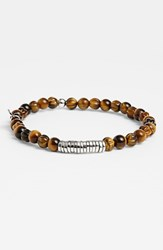 Men's Tateossian Bead Bracelet Tiger Eye
