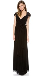 Joanna August Newbury Cap Sleeve Wrap Dress Blackbird