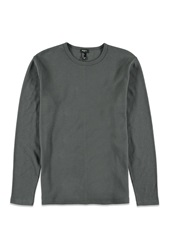 Forever 21 Crew Neck Thermal Grey