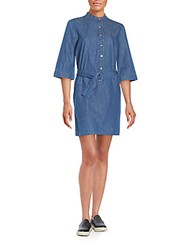 Marc By Marc Jacobs Belted Chambray Shirtdress Blue
