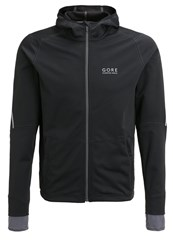 Gore Running Wear Essential Sports Jacket Black Graphite Grey