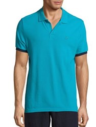 Vilebrequin Pique Polo T Shirt Red Prussian Blue