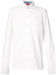 Isaia Long Sleeve Shirt White