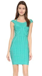 Herve Leger Connie Dress Aqua Jade