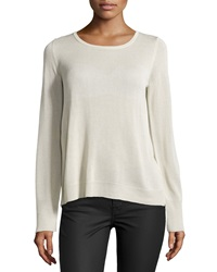 Dex Split Back Semi Sheer Sweater Silky Ivory