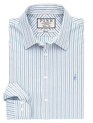 Thomas Pink Men's Nelson Stripe Classic Fit Button Cuff Shirt Blue