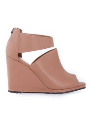 Studio Chofakian Wedge Sandals Brown
