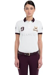 Miasuki Summer Embroidered Pique Polo Shirt
