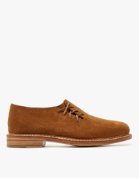 Feit Side Lace Oxford In Dark Tan