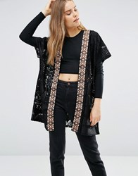 First And I Lace Cape Black