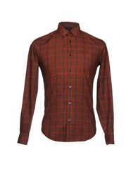 Henry Cotton's Shirts Rust