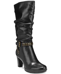 American Living Kandace Mid Calf Dress Boots A Macy's Exclusive Style Black