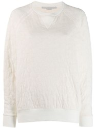 Stella Mccartney Monogram Knitted Jumper White